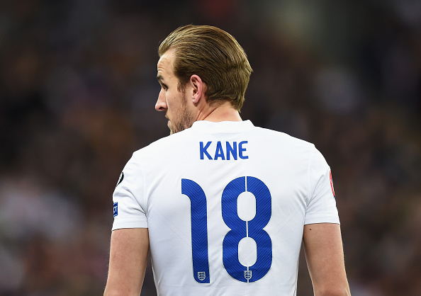 LONDON, ENGLAND - MARCH 27: Harry Kane of England looks on during the EURO 2016 Qualifier between England and Lithuania at Wembley Stadium on March 27, 2015 in London, England. (Photo by Michael Regan - The FA/The FA via Getty Images)