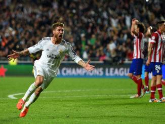 Sergio Ramos Buat Madrid Unggul 1 Gol
